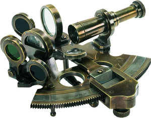 Bronze Pocket Sextant Replica by Authentic Models