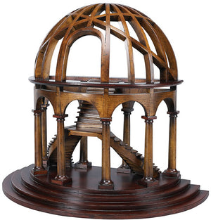 Demi Dome Museum Wood Architectural Model Collectible by Authentic Models