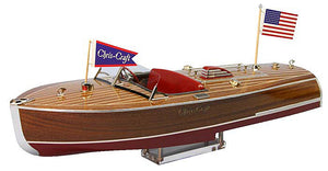 1941 Chris-Craft 16' Hydroplane Wood Model Boat Kit by Dumas