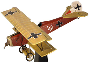 "Desktop Fokker D-VII Airplane Model w/Stand, 18"" by Authentic Models"
