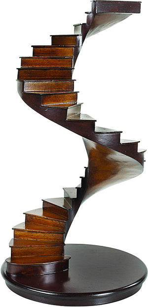 Spiral Stairs Museum Wood Architectural Model Collectible by Authentic Models