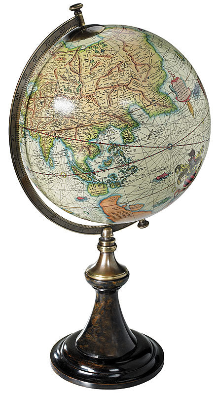 Mercator Old World Terrestrial Globe Reproduction on Paris Stand by Authentic Models