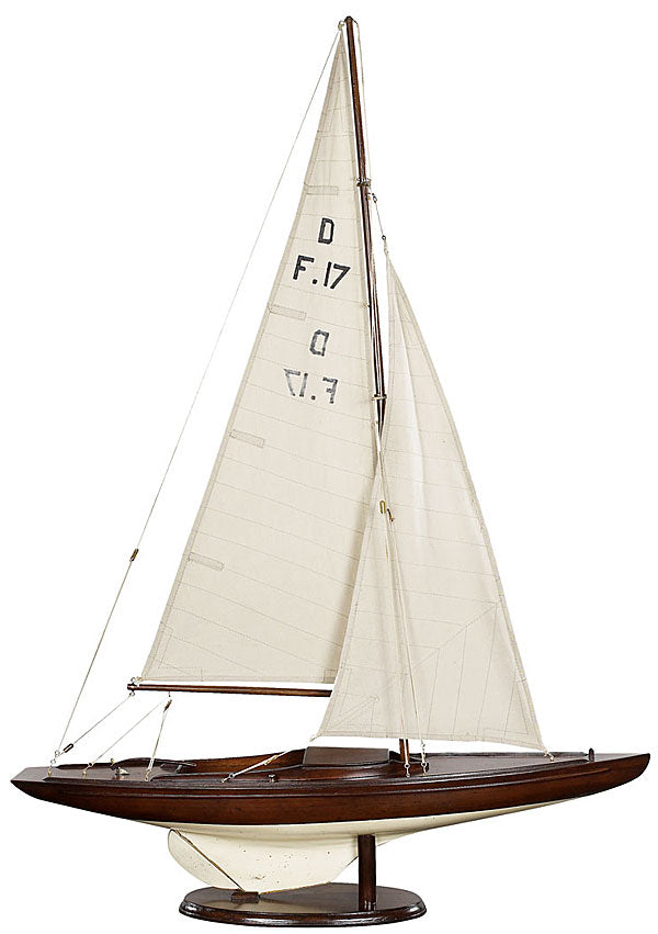 Dragon Yacht Wood Model Boat by Authentic Models