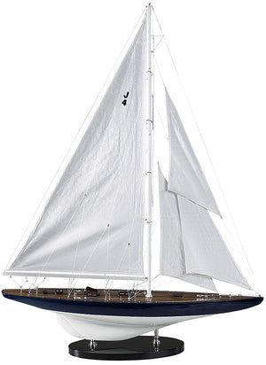 J-Yacht Rainbow (1934) Wood Model Boat  - Assembled