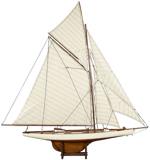 Columbia Racing Yacht 1901 Model Boat - Ivory - Antique Finish
