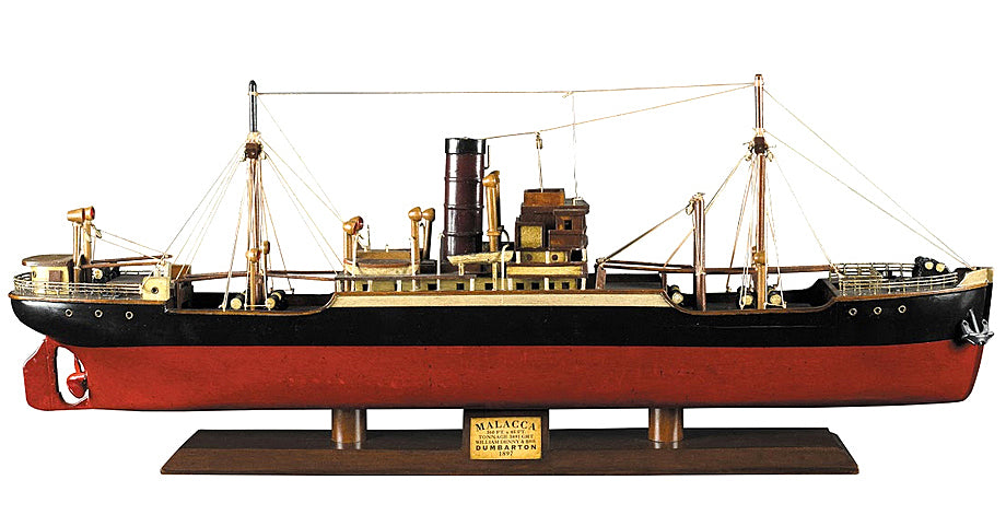 Tramp Steamer Malacca Model Ship by Authentic Models