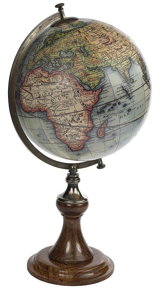 Vaugondy Old World Globe Replica Circa 1745 on Desk Stand by Authentic Models