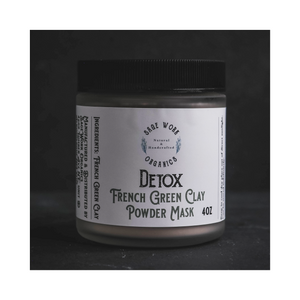 French Green Clay Detox Mask Powder 4oz