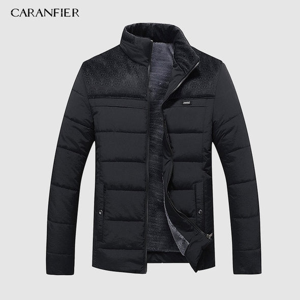 CARANFIER Warm Thick Winter Jacket Men Clothes Casual Stand Collar High Quality Fashion Brand Winter Coat Men Parka Outerwear - Katpurr