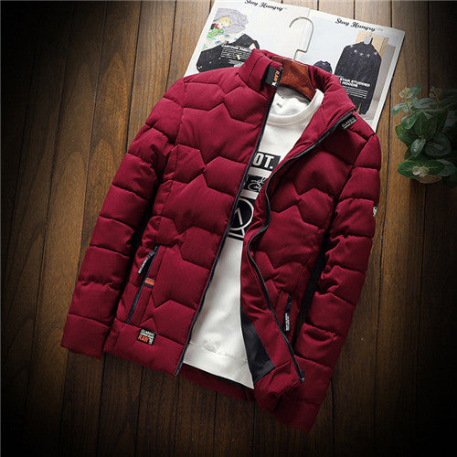 autumn winter New Jacket fashion trend Casual thickened warm cotton-padded clothes Slim baseball coats size Down Warm Jacket - Katpurr