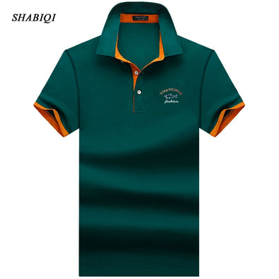 SHABIQI Brand clothing New Men Polo Shirt Men Business & Casual solid male polo shirt Short Sleeve Breathable polo shirt S-10XL - Katpurr