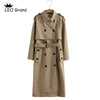 Vee Top women casual solid color double breasted outwear sashes office coat chic epaulet design long trench 902229 - Katpurr