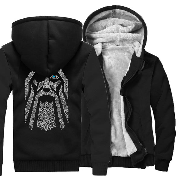 winter sweatshirt raglan print jacket tracksuit Odin Vikings hoodies for men 2019 new fashion wool liner Camouflage sleeve coats - Katpurr