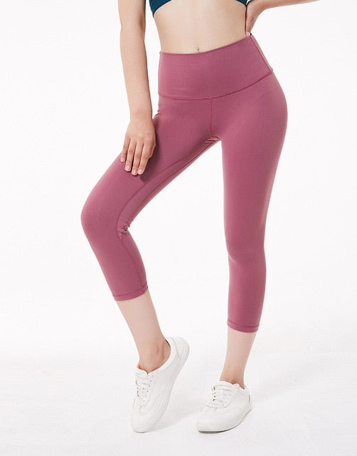 2019 NWT Eshtanga Women Sports Capris Yoga High Elastic Waist Solid Skinny Stretch Capris Leggings Size XXS-XL Free Shipping - Katpurr
