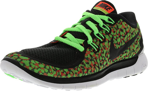 Nike Womens Free 5.0 Running Shoes, Voltage Green/Hyper Orange/White/Black, 7 B(M) US