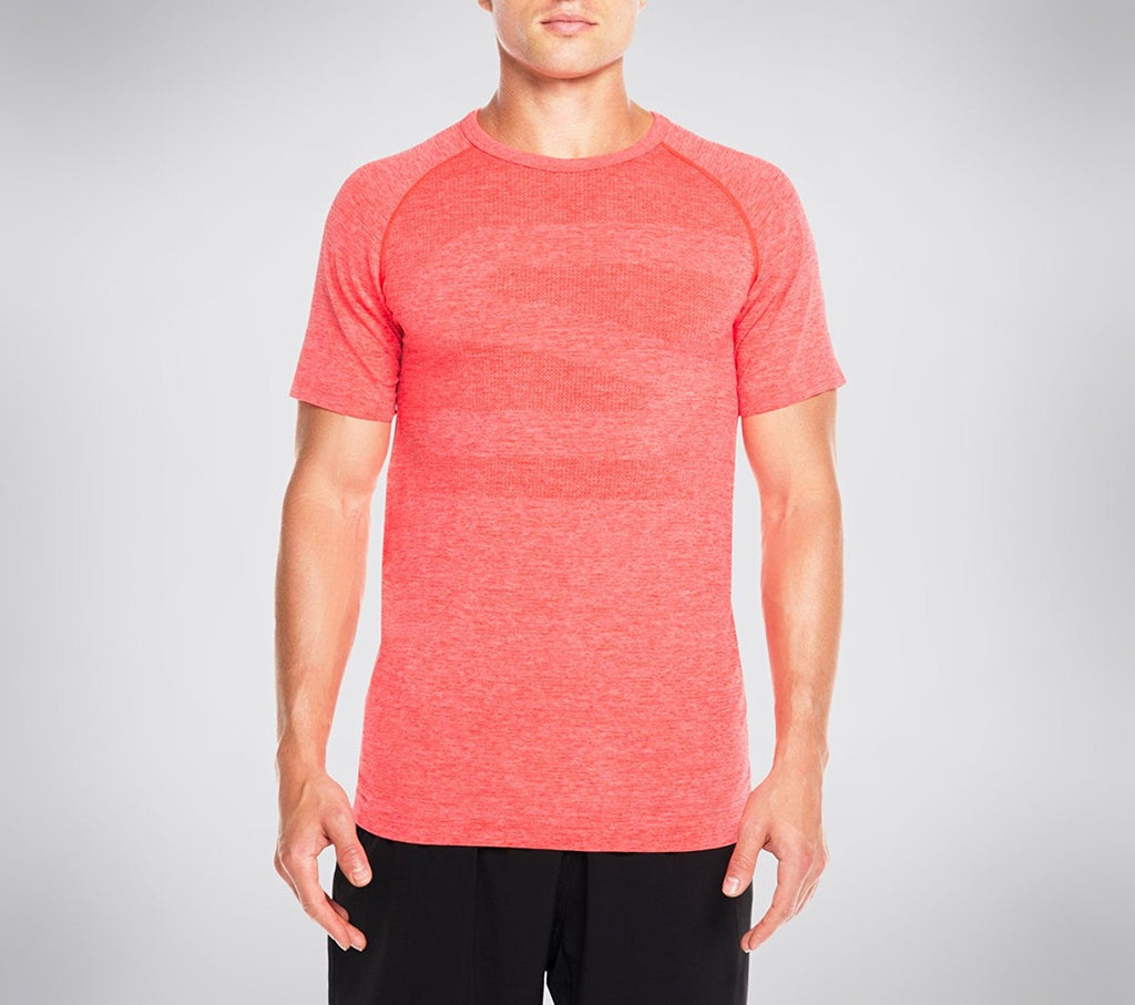 Skechers Men's Atlantic Seamless First Layer Short Sleeve Tee Shi,Red,US M/L