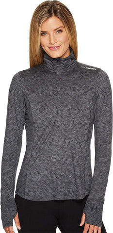 Brooks Women's Dash 1/2 Zip Heather Asphalt