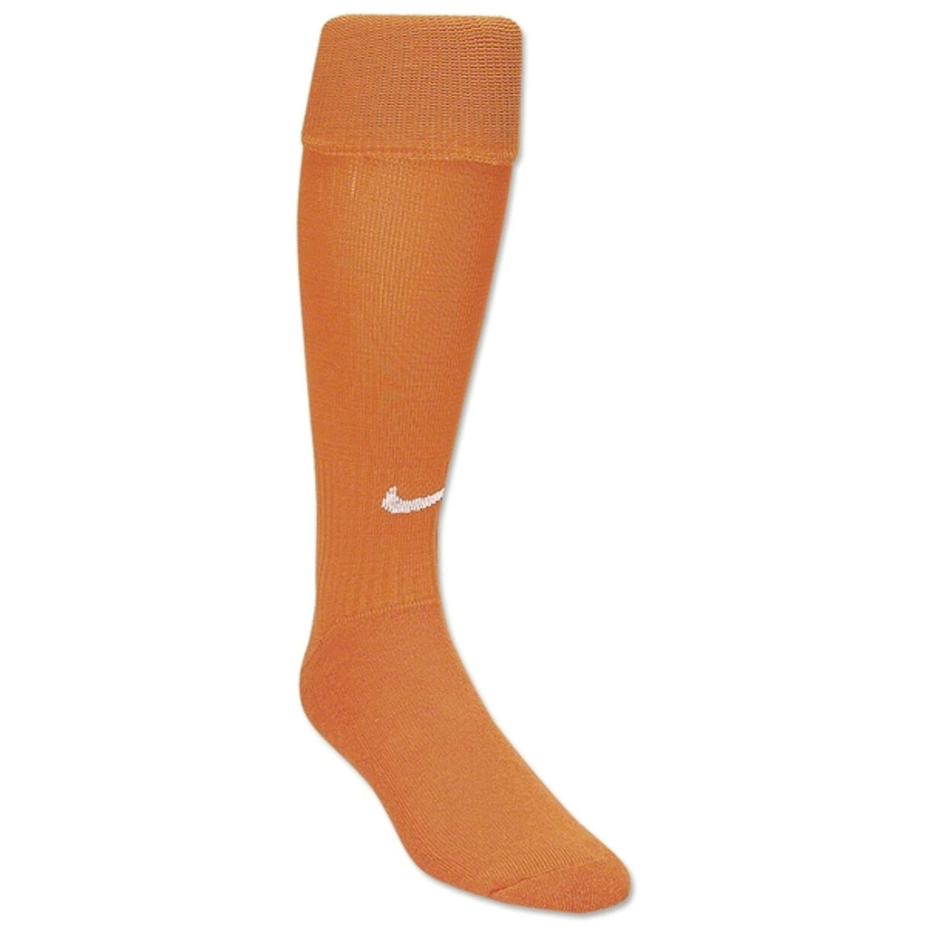 Nike Men`s Classic Cushioned Soccer Socks (Small Women's 4-6, Orange/Black/White)