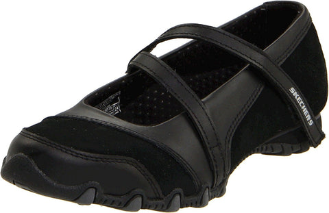 Skechers Women's Bikers-Step-Up Mary Jane Slip-On Flat No Memory Foam