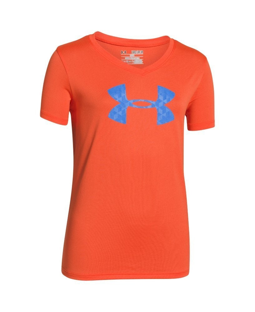 Under Armour Girls' Tech Big Logo V-Neck