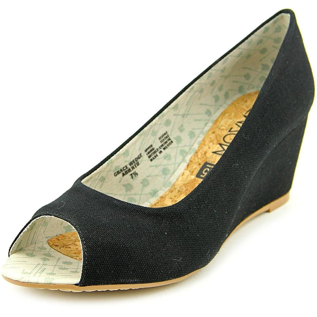 Movmt Grace Wedge Abierto Women Black Wedge Heel
