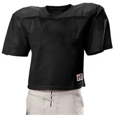 Alleson Adult Football Practice Jersey (2XL - 3XL) - Black - 711PJ