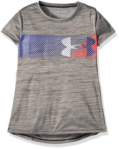 Under Armour Girls' Hybrid Big Logo T-Shirt