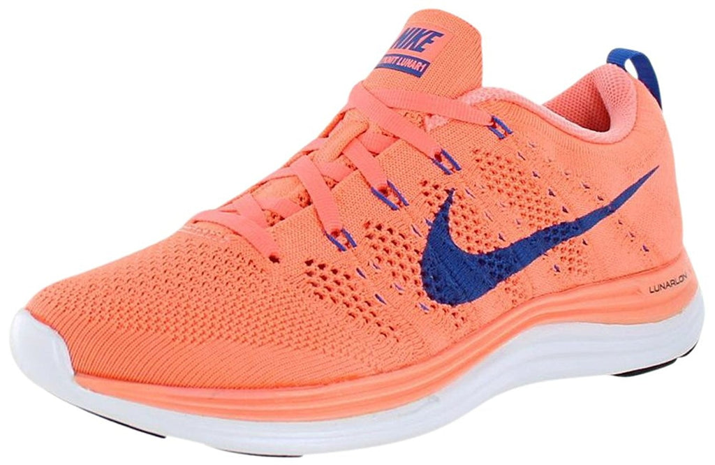 Nike Women's Wmns Flyknit Lunar1, ATOMIC PINK /GAME ROYAL-WHITE