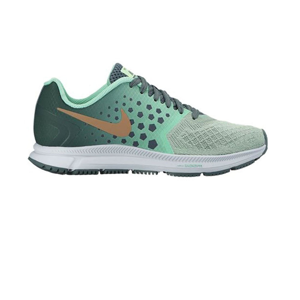 New Nike Women's Zoom Span Shield Running Shoe Hasta/Green Glow 8.5