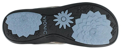 Vionic with Orthaheel Technology Womens Bella II Thong Sandal Pewter Size 10