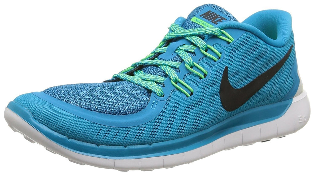 Nike Womens Wmns Free 5.0, BLUE LAGOON/BLACK-VLTG GREEN-CP, 6 US