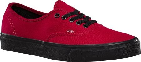 Vans Black Sole Authentic,Jester Red,US 5 M
