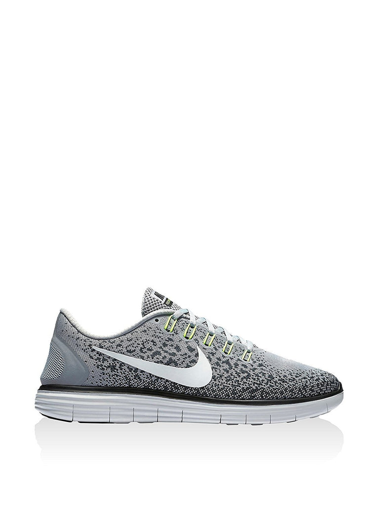 Nike Free RN Distance Mens Running Trainers 827115 Sneakers Shoes (US 9, wolf grey off white black 005)