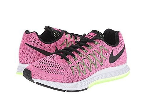 Nike Womens Air Zoom Pegasus 32 Pink Pow/Barely Volt/Ghost Green/Black Sneak, 7 B(M) US