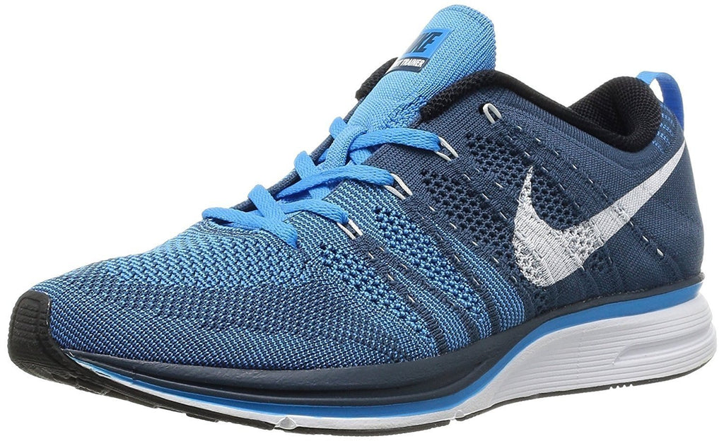 Nike Men's Flyknit Trainer, SQUADRON BLUE/WHITE-BLUE GLOW, 6.5 M US