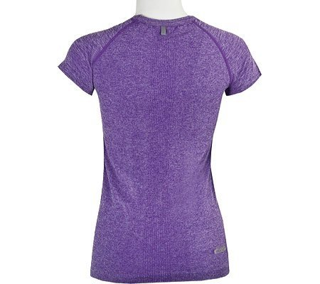 Skechers Women's Short Sleeve First Layer Tee Shirt,Purple,US S/M
