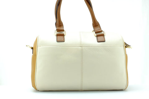 Calvin Klein Womens Monterey Leather Satchel
