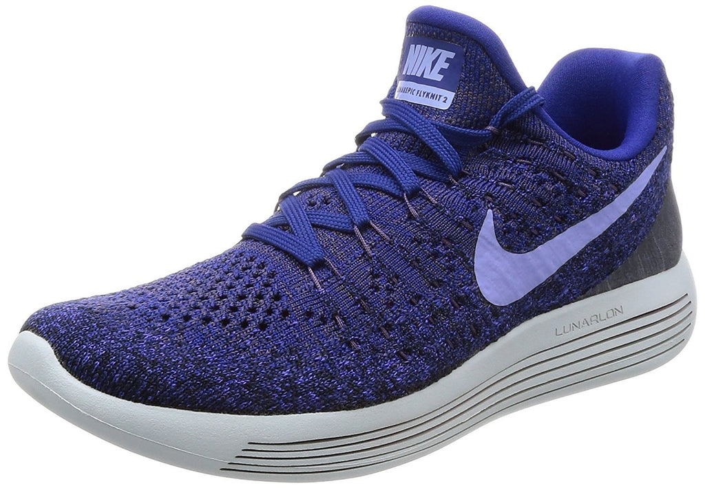 Nike Womens W Lunarepic Low Flyknit 2, DARK RAISIN/LIGHT THISTLE, 7 US