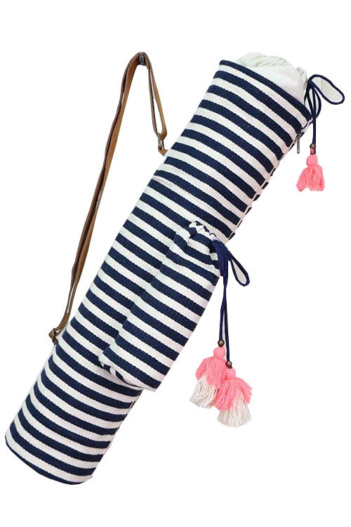 Nautical Stripe Yoga Mat Bag