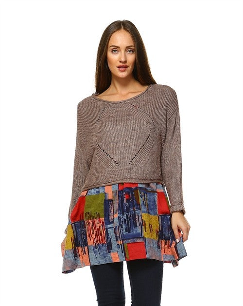 Sweater Knit Overlapped Top