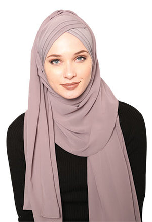 Pleated chiffon Hijab