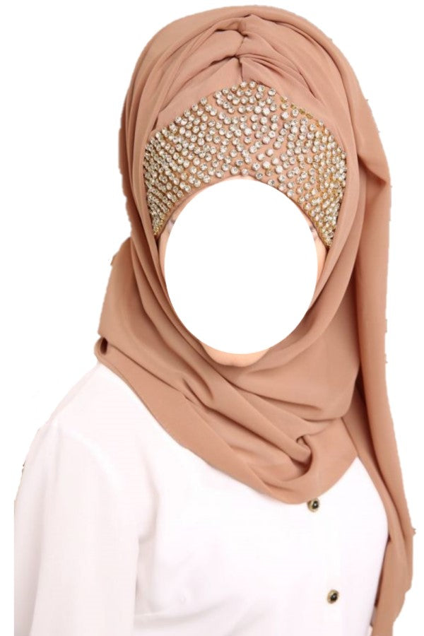 Embelished Wrap Chiffon Hijab