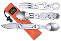 Outdoor Edge ChowPal Muti-Tool Camping Utensils, Stainless Steel, Perfect for Camping, Hiking, Backpacking and Hunting