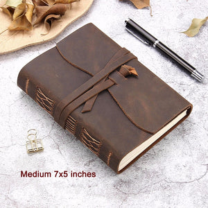 Vintage Leather Travel Journal