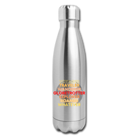 Globetrotter-Insulated Stainless Steel Water Bottle - silver