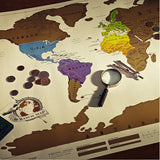 """Bucket List"" Scratch-off Travel Maps"