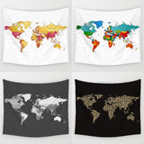Splash of Color World Map Throw Blanket