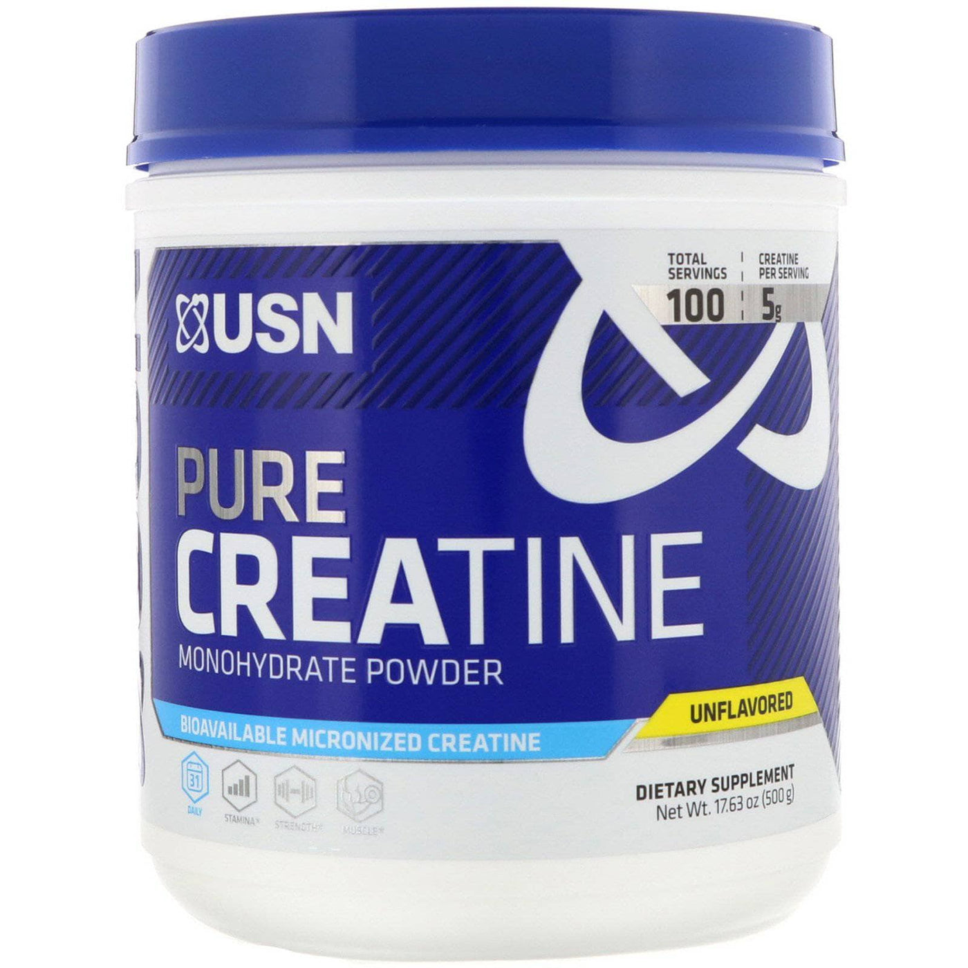USN Pure Creatine Monohydrate Powder Unflavored