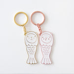 Merlion Metal Keychains