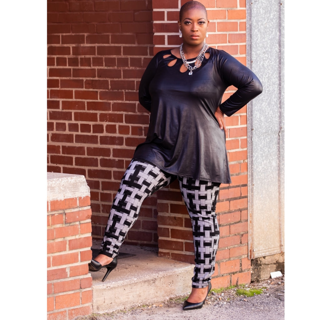 Tina Black & Gray Pant